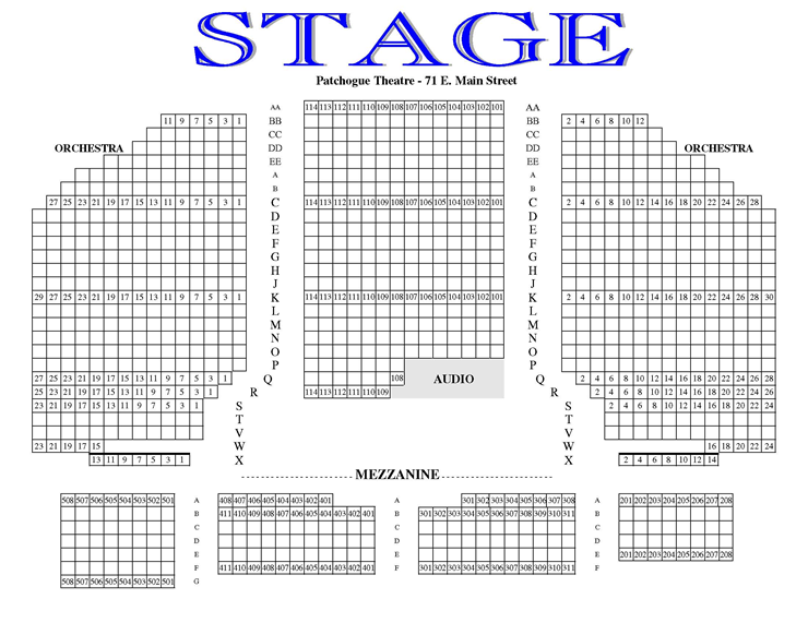 Gateway Playhouse – Seating Chart